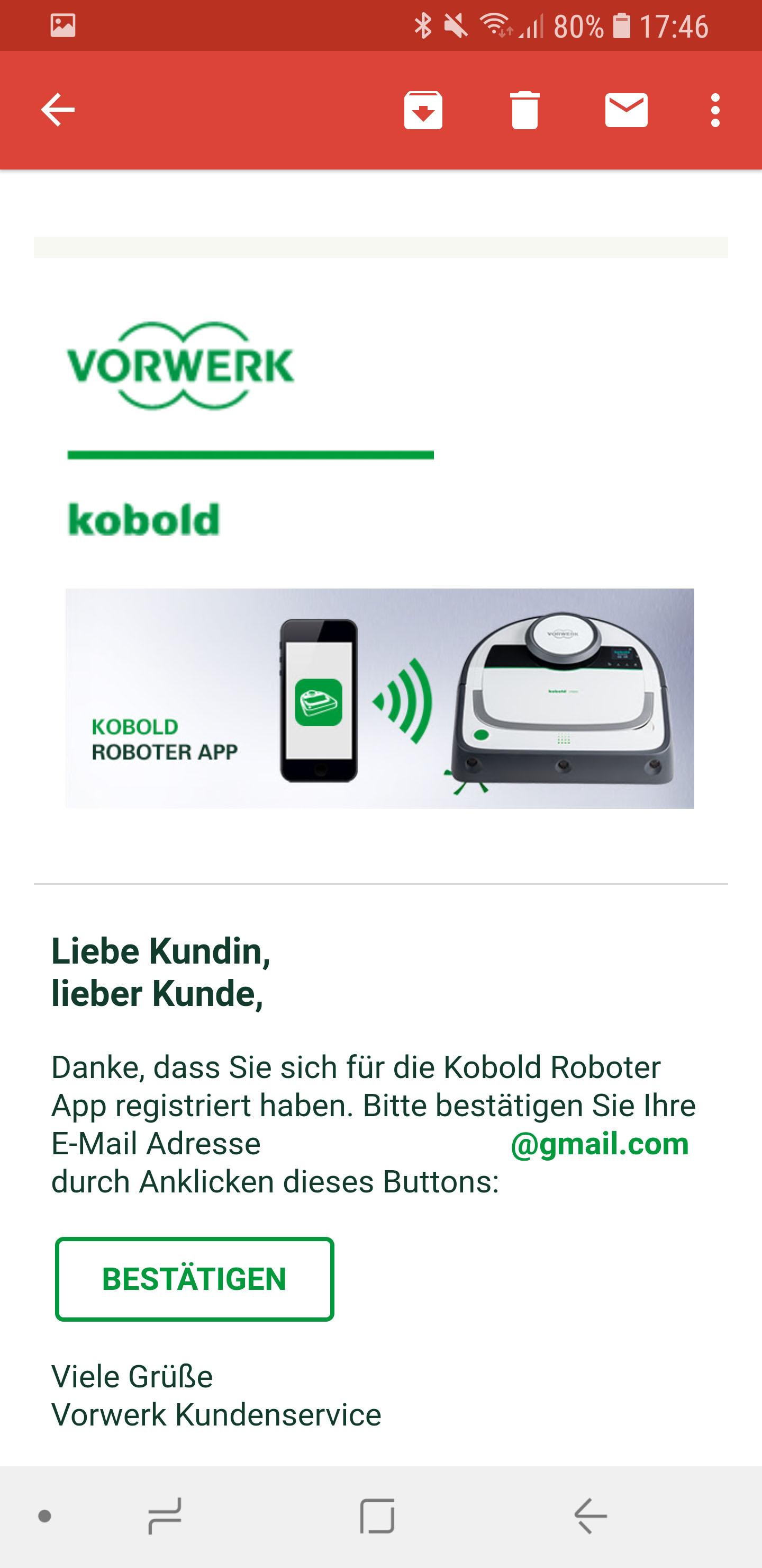 Vorwerk Kobold App installieren und Account einrichten 10