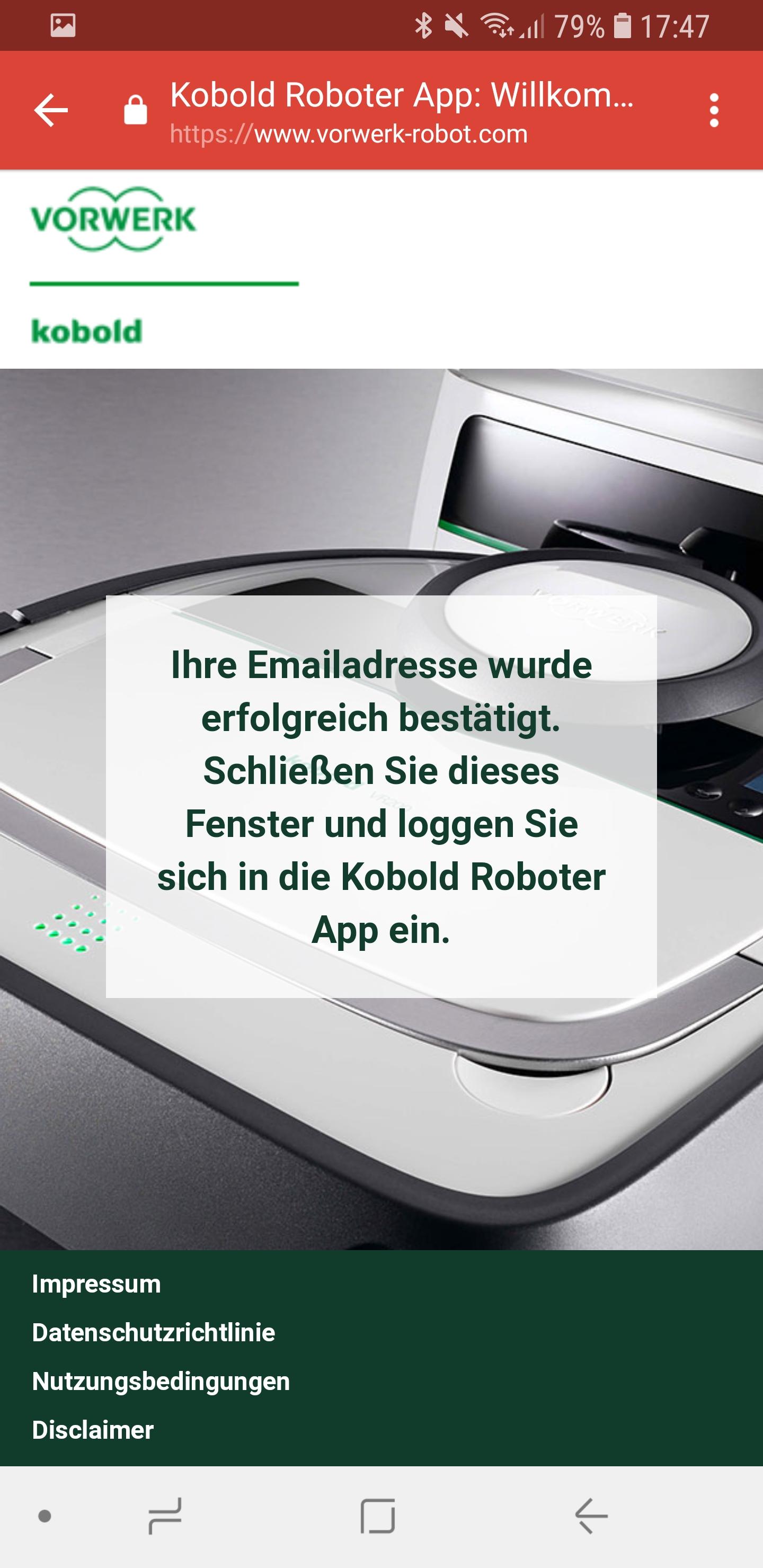 Vorwerk Kobold App installieren und Account einrichten 11