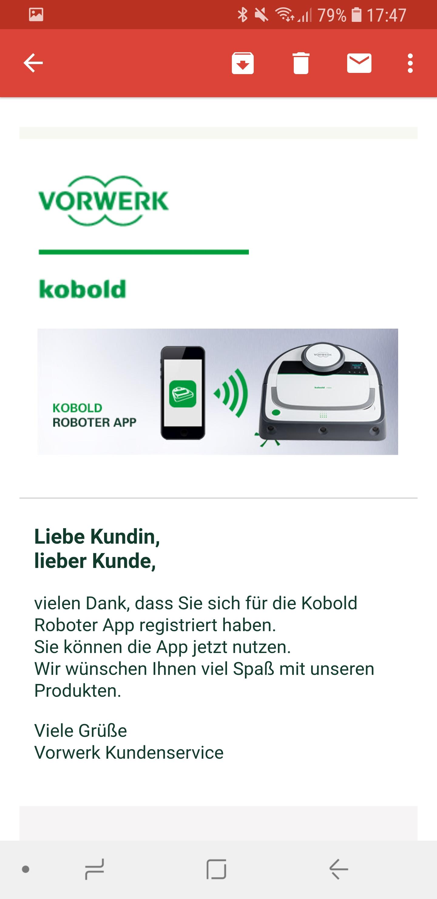 Vorwerk Kobold App installieren und Account einrichten 12