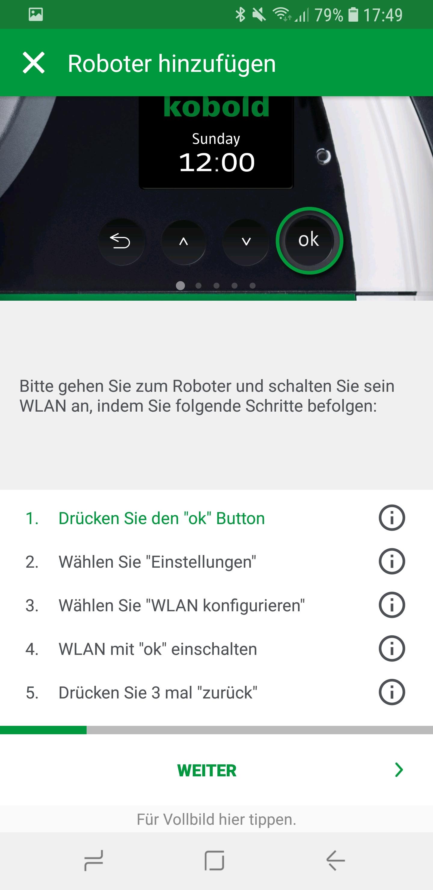 Vorwerk Kobold App Roboter hinzufügen 02