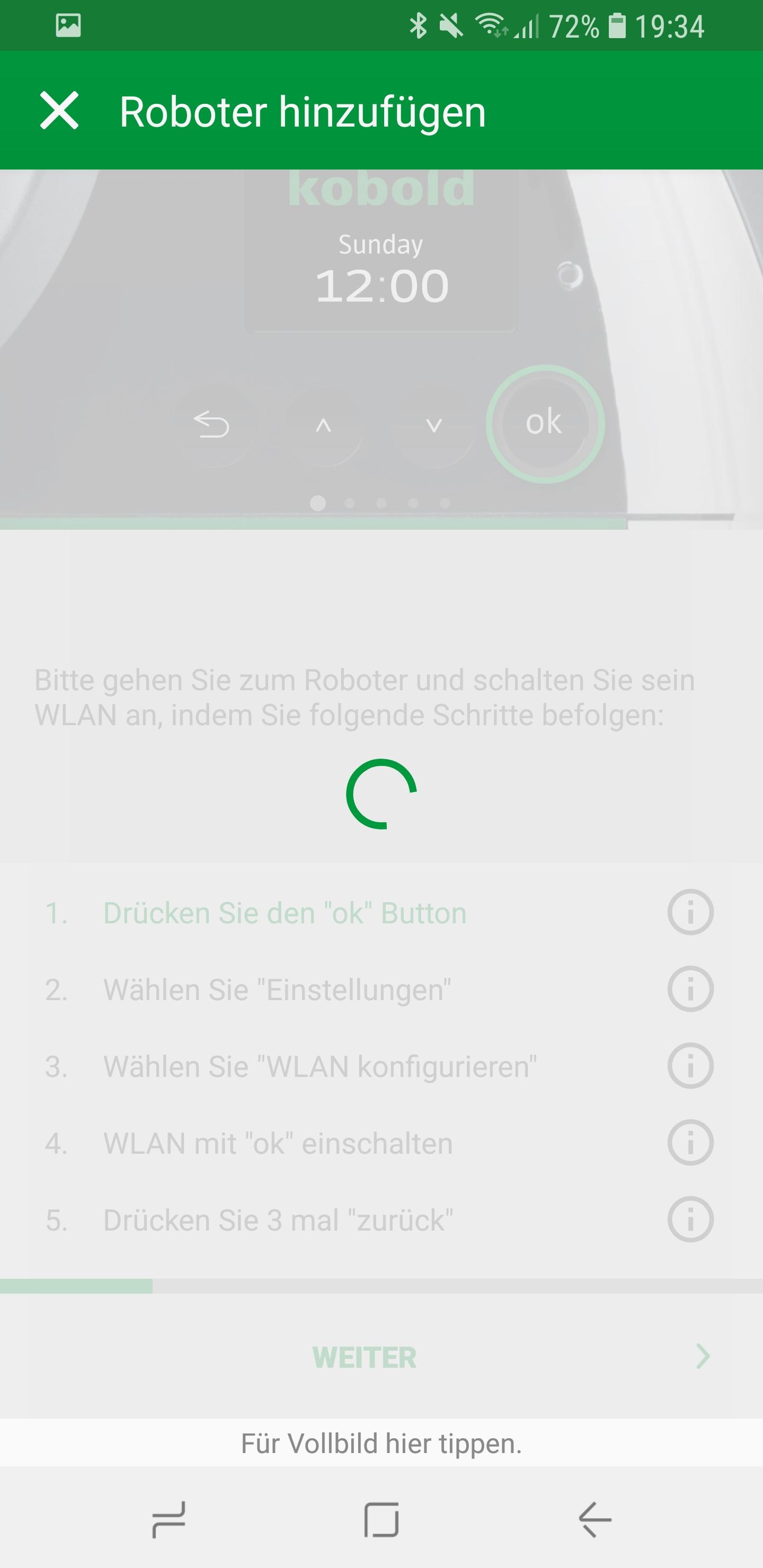 Vorwerk Kobold App Roboter hinzufügen 03