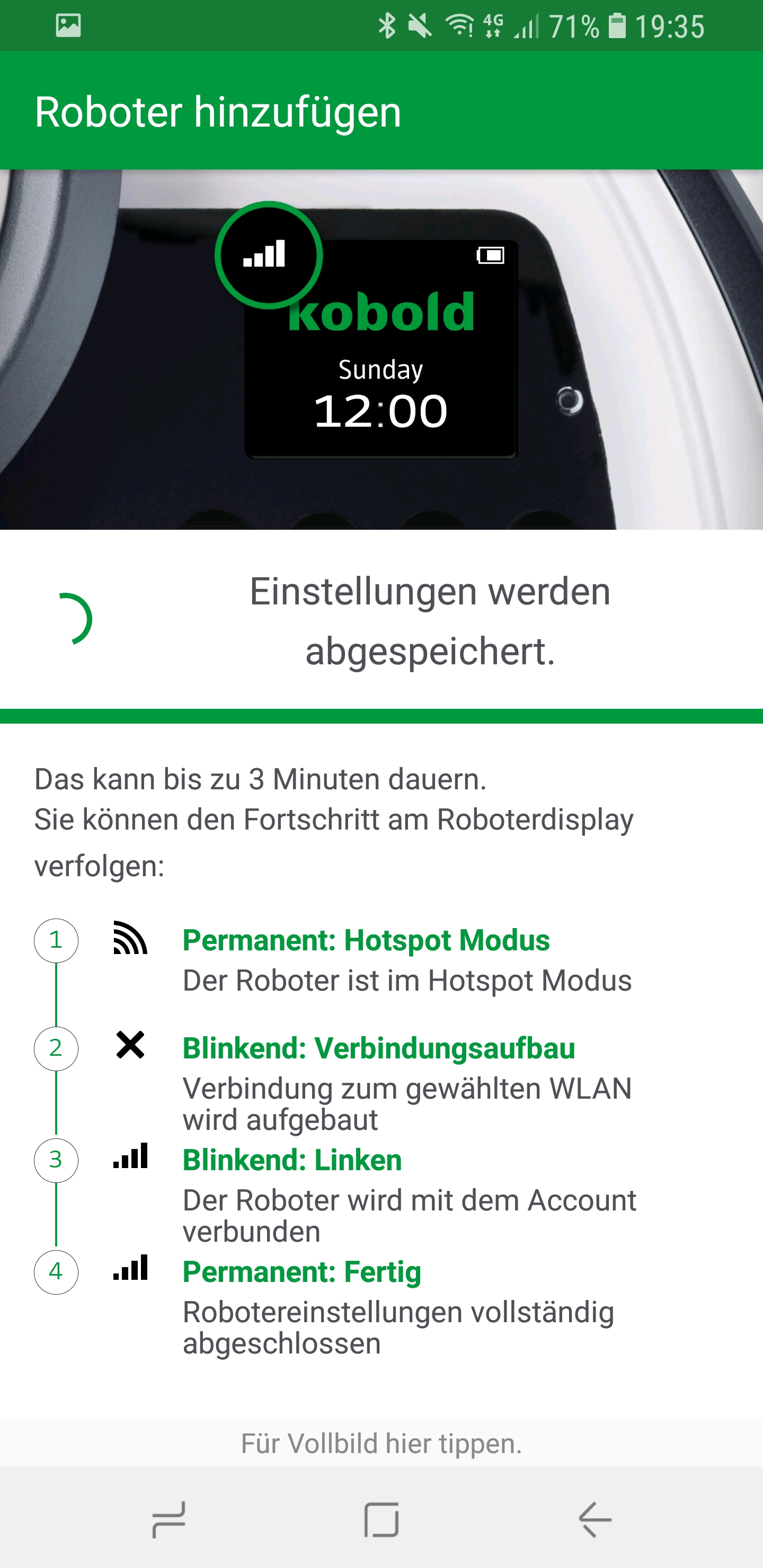 Vorwerk Kobold App Roboter hinzufügen 07