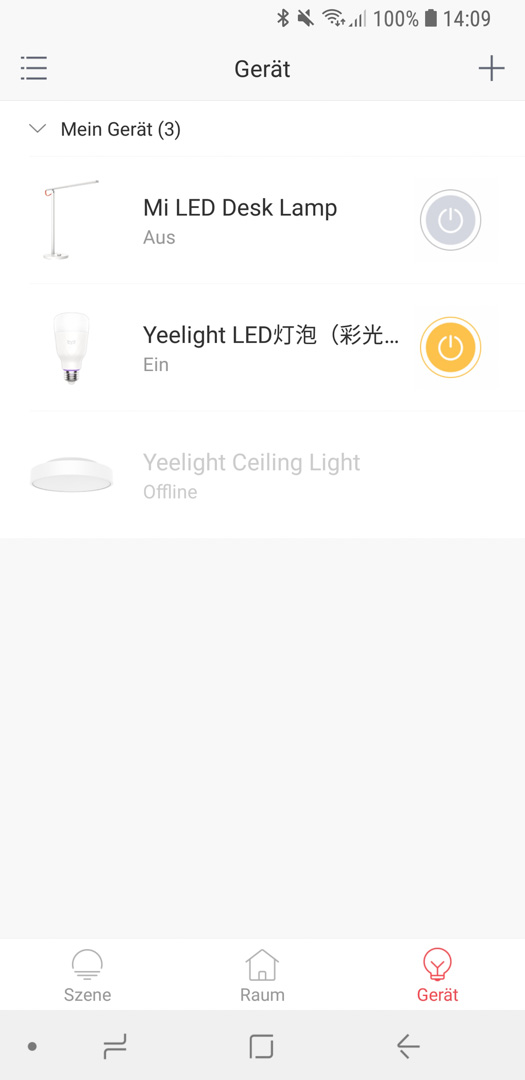 Xiaomi Yeelight Color Bulb App 01