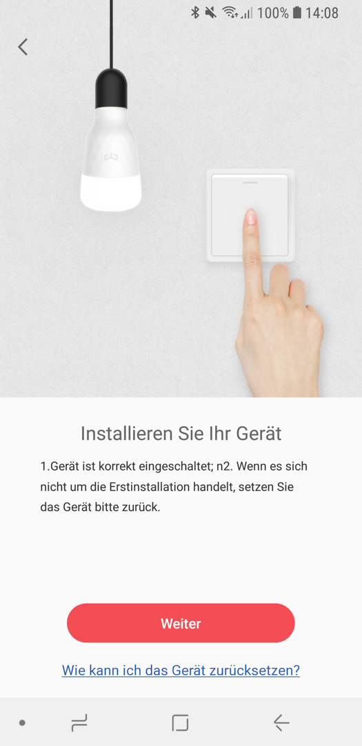 Xiaomi Yeelight Color Bulb einrichten 04