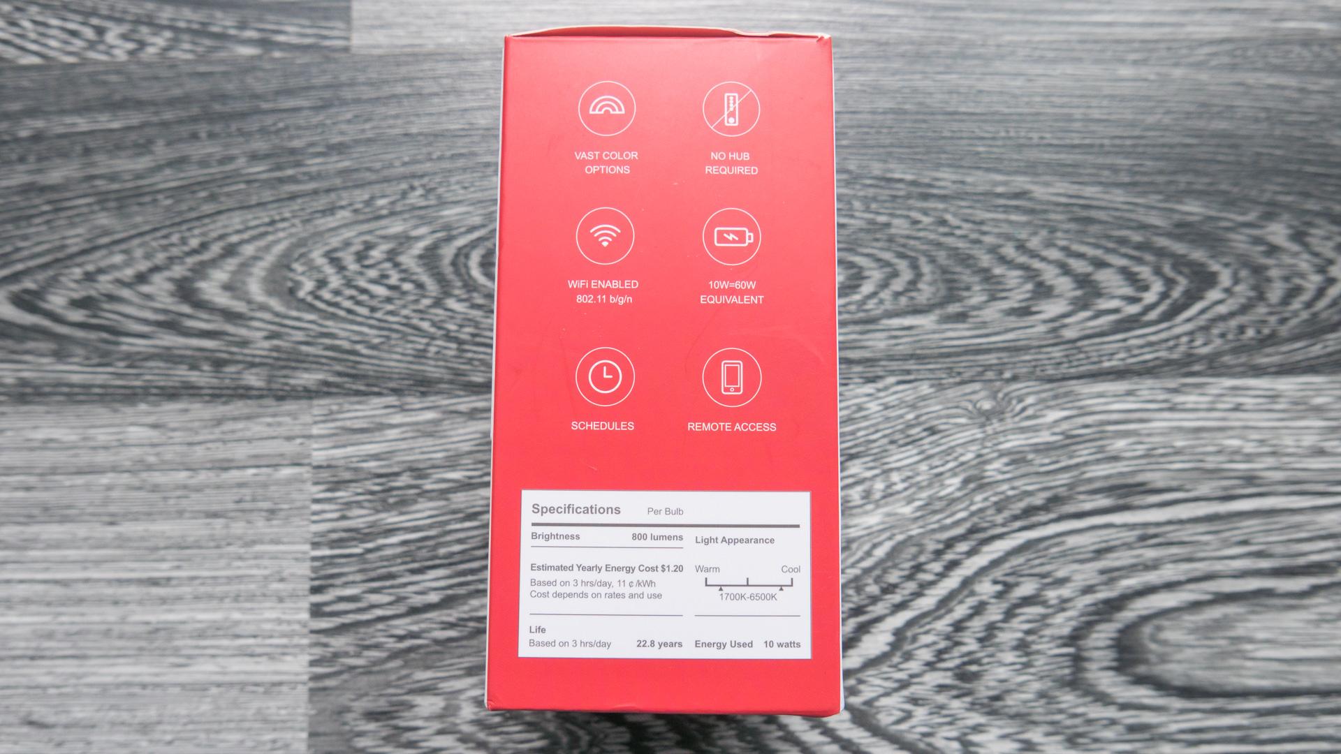 Xiaomi Yeelight Color Bulb Verpackung 04