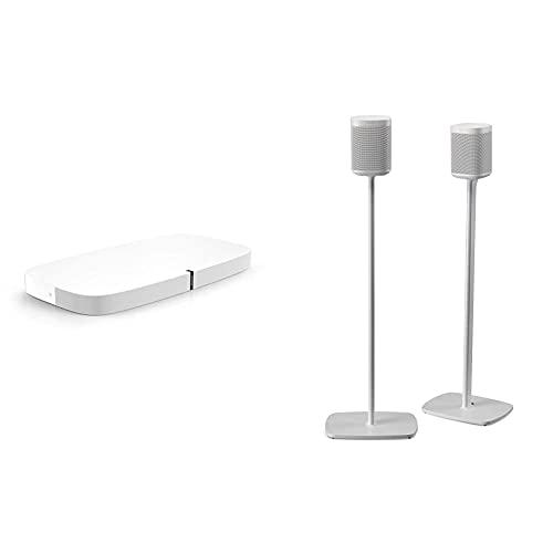 Sonos Playbase WLAN Soundbase, weiß – Fernsehlautsprecher mit...