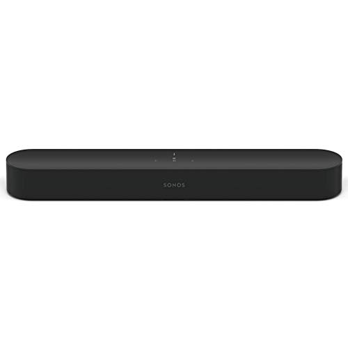Sonos Beam Smart Soundbar, schwarz – Kompakte TV Soundbar für...