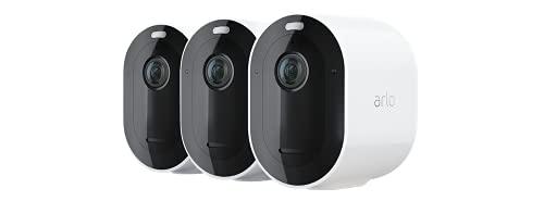 Arlo Pro4 Spotlight WLAN Überwachungskamera aussen, kabellos, 3er...