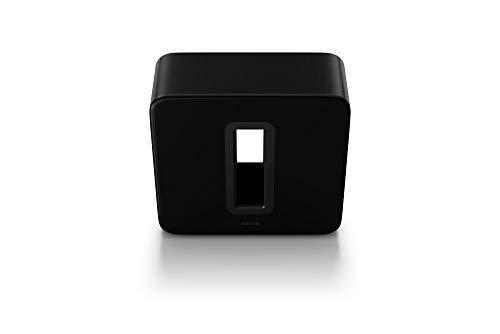 Sonos Sub, schwarz – Leistungsstarker WLAN Subwoofer für dynamische...