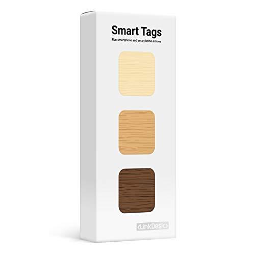 LinkDesk Smart Tags | Selbstklebende NFC Tags | Kontaktloses Auslösen...