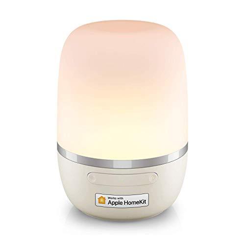 Smarte LED Nachttischlampe funktioniert mit Apple HomeKit, Meross...