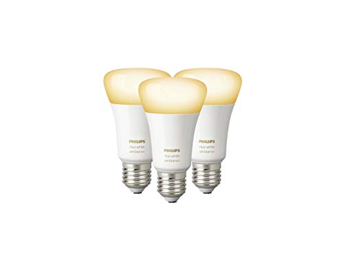 Philips Hue White Ambiance E27 LED Lampe Dreierpack, dimmbar, alle...
