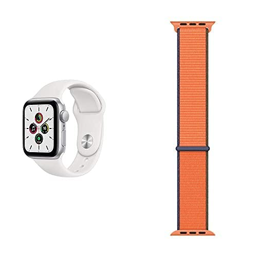 AppleWatch SE (GPS, 40mm) Aluminiumgehäuse Silber, Sportarmband...