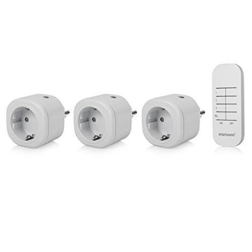 Smartwares SH4-99553 Mini Funksteckdosen-Set indoor, 3x...