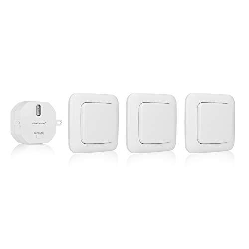 Smartwares SH5-SET-BS SmartHome 3er-Set Funk-Wandschalter und 1...