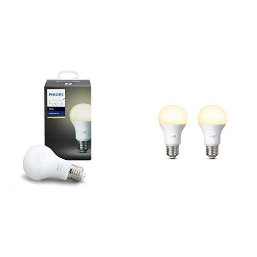 Philips Hue White E27 LED Lampe 5er Pack, dimmbar, warmweißes Licht,...