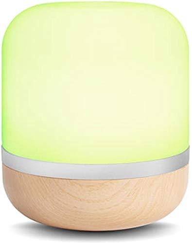 Smarte LED-Tischleuchte Hero von WiZ; WLAN-schaltbar. Holzfarben....