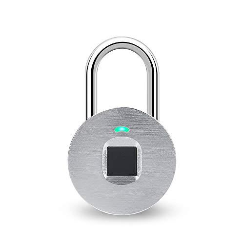 hardwrk Fingerprint Lock - Silber - Smartes Vorhängeschloss mit...
