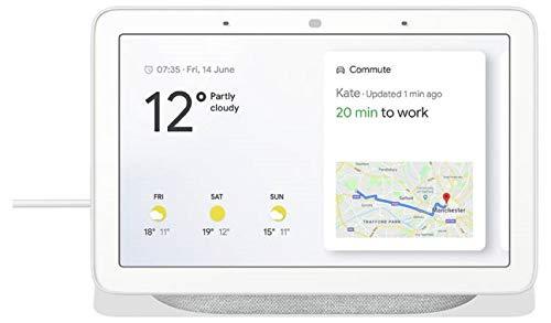 Google Nest Hub Smart-Display, 11,8 x 17,8 x 6,7 cm, Kreidefarben