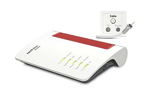 AVM FRITZ!Box 6660 Cable (DOCSIS-3.1-Kabelmodem, 2x2 WLAN AX (Wi-Fi 6)...
