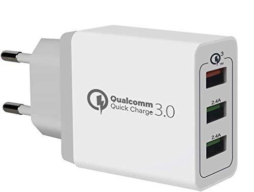 USB Ladegerat, 30W Quick Charge 3.0 3 Port-Reiseladegerat Fast Wall...