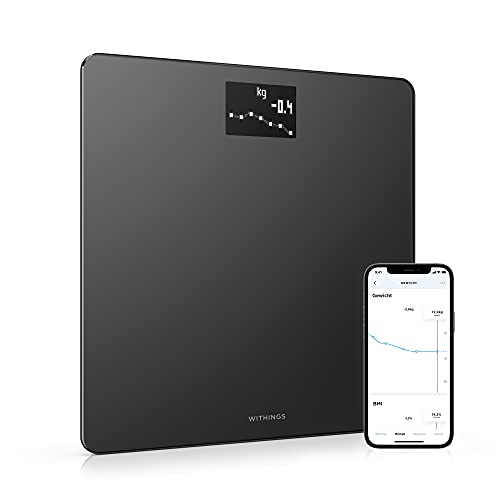 Withings Body – WLAN-Smart-Waage mit BMI-Funktion, digitale...