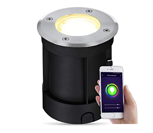 lambado® LED Bodenstrahler für Aussen mit RGB Farbwechsel dimmbar -...