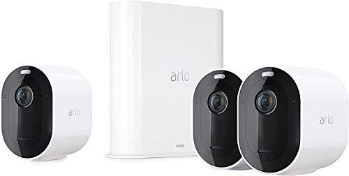 Arlo Pro3 WLAN Überwachungskamera & Alarmanlage, 2K UHD, 3er Set,...
