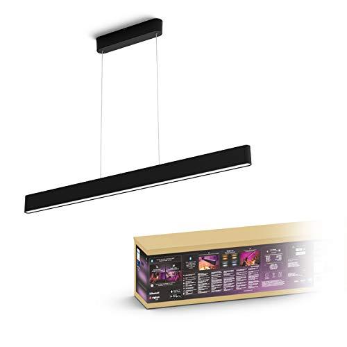 Philips Hue White & Col. Amb. LED-Pendelleuchte Ensis, schwarz,...