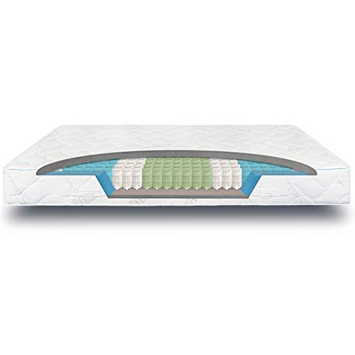 verapur Ortho Plus Taschenfederkernmatratze 90 x 200 cm H3, 7-Zonen...