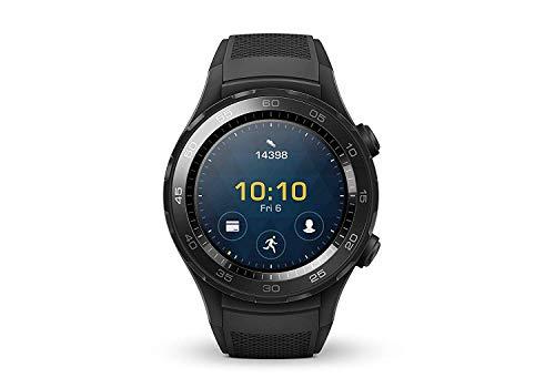 HUAWEI Watch 2 (Bluetooth) Smartwatch mit schwarzem Sportarmband (NFC,...
