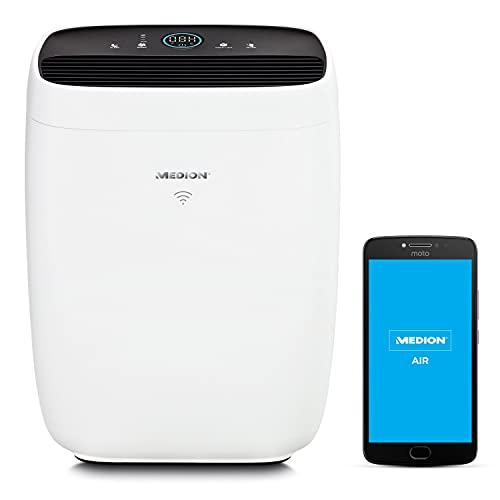 MEDION Luftreiniger mit App Steuerung (HEPA Filter, Smart, reduziert...