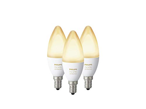 Philips Hue White Ambiance E14 LED Kerze 3-er Pack, dimmbar, alle...