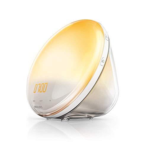 Philips HF3520/01 Wake-Up Light (Sonnenaufgangfunktion, digitales FM...