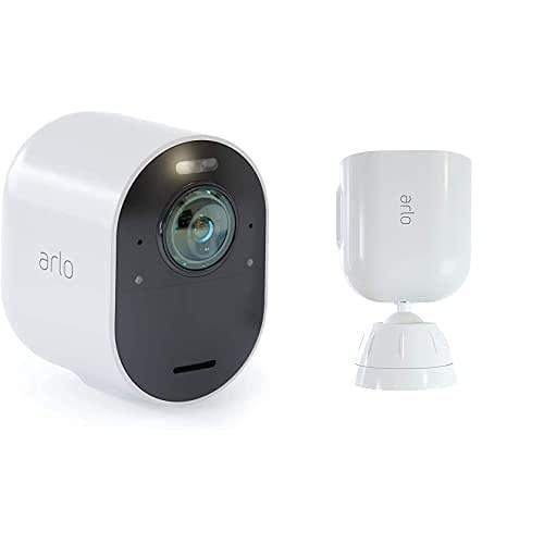 Arlo Ultra Smart Home Zusatz Überwachungskamera und Halterung Bundle...