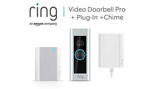 Ring Video Doorbell Pro mit Netzteil und Ring Chime von Amazon, 1080p...