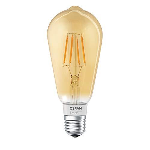 OSRAM SMART+ LED Filament Edison Gold, Bluetooth Lampe mit E27 Sockel,...