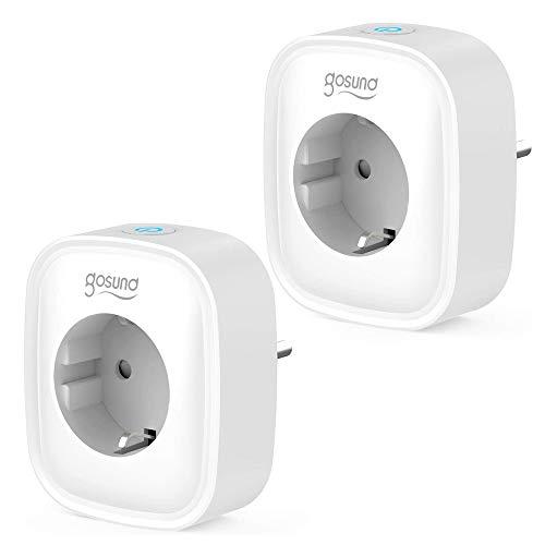 Gosund Wlan Smart Steckdose 2er Pack, Alexa Stecker Smart Home Plugs...