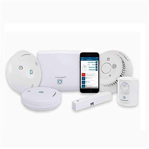 Homematic IP Smart Home Set Sicherheit- Feuer, Wassersensor,...