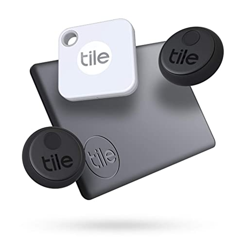 Tile Essentials (2020) Schlüsselfinder - 4er Pack (2 Stickers, 1...