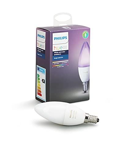 Philips 8718696695166 A+, Hue E14 LED Kerze, Einzellampe, dimmbar, 16...