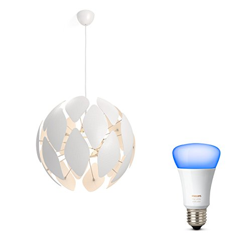Philips myLiving Pendelleuchte Chiffon, 60 W, E27, weiß, inkl....