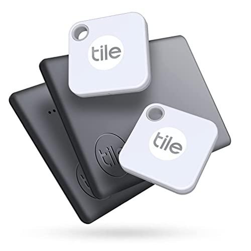 Tile Mate + Slim Combo (2020) Bluetooth Item Finder Set- 4er Pack (2...