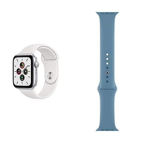 AppleWatch SE (GPS, 44mm) Aluminiumgehäuse Silber, Sportarmband...