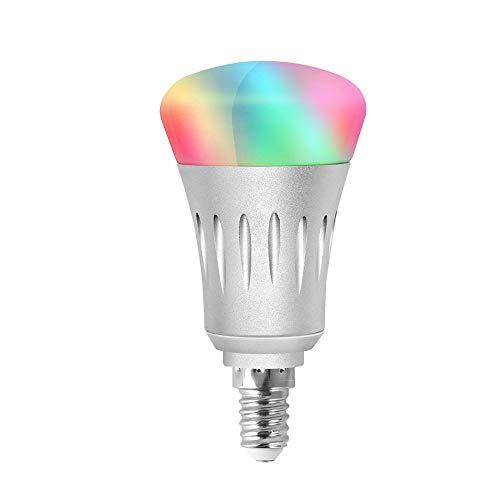 Wlan Lampen Wifi Smart RGB Birne E14 dimmbares mehrfarbiges Licht...
