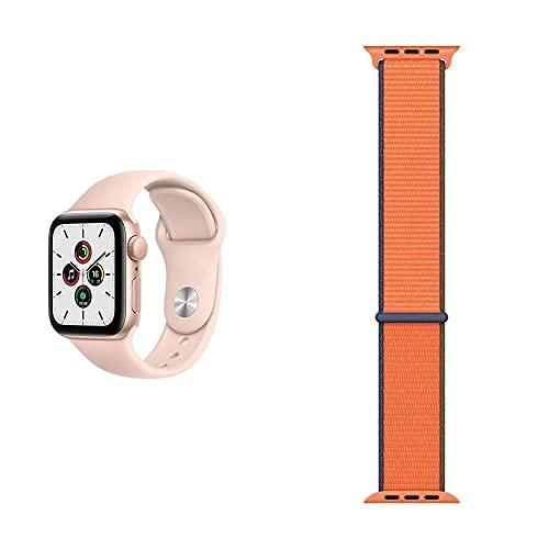 AppleWatch SE (GPS, 40mm) Aluminiumgehäuse Gold, Sportarmband...