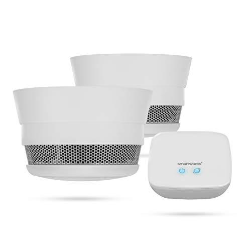 Smartwares Smart Home Pro   Rauchwarnmelder Set inklusive Basistation,...