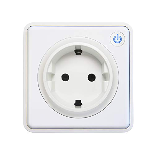 Lightwave L41TFWH Smart Socket - weißes Metall, 3000 W, 230 V