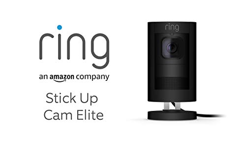 Ring Stick Up Cam Elite von Amazon, HD-Sicherheitskamera mit...