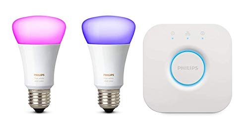 Philips Hue White und Color Ambiance E27 LED Lampe Starter Set, zwei...
